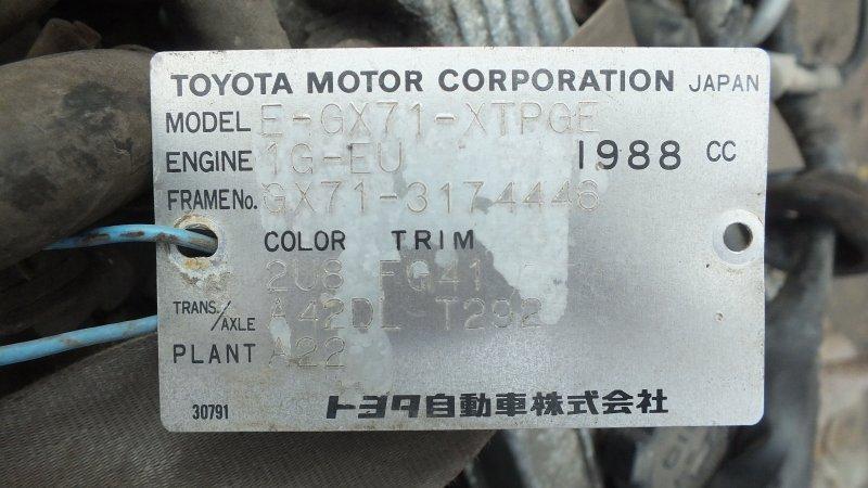 ДВС TOYOTA MARK2 GX71 1G-EU Япония