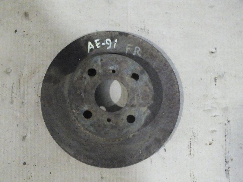 ДИСК ТОРМОЗНОЙ  F TOYOTA COROLLA AE91 ВЕНТИЛИРУЕМЫЙ 43512-12250 Япония