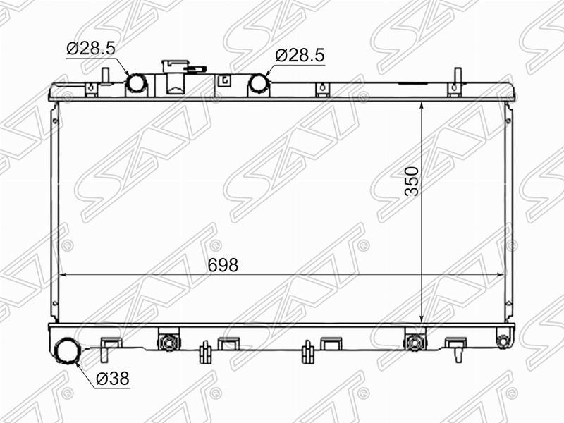 РАДИАТОР ОСНОВНОЙ SUBARU LEGACY / LANCASTER EZ30 99-03(пластинчатый) SB0005-3.0 Тайвань