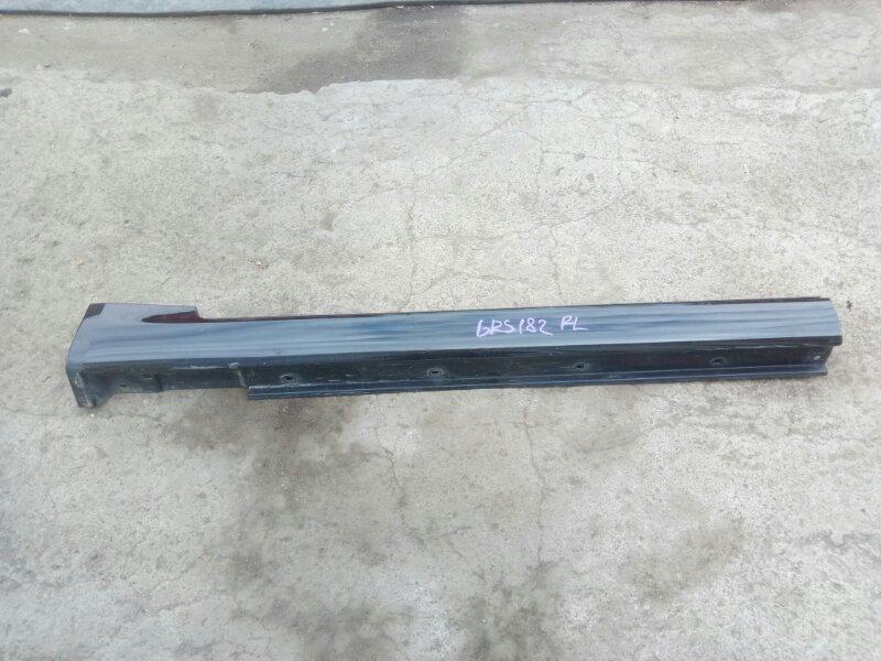 Порог пластиковый Toyota Crown GRS180 4GRFSE 2005 передний левый (б/у)