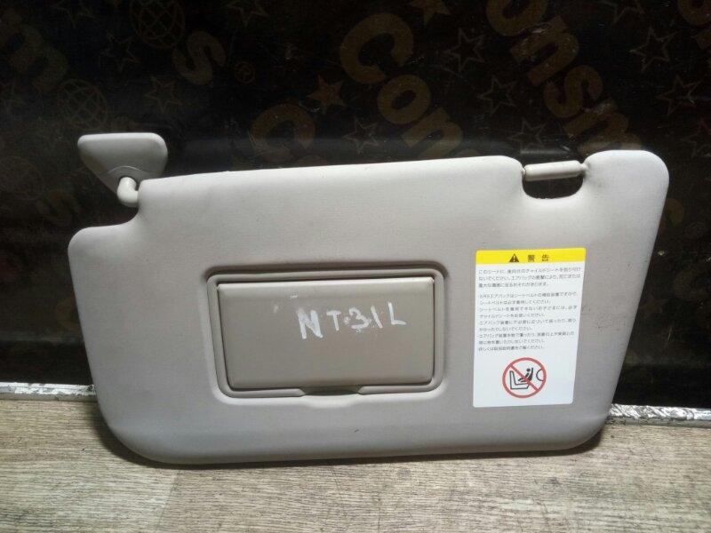 Козырек солнцезащитный Nissan X-Trail NT31 MR20(DE) 2011 левый (б/у)