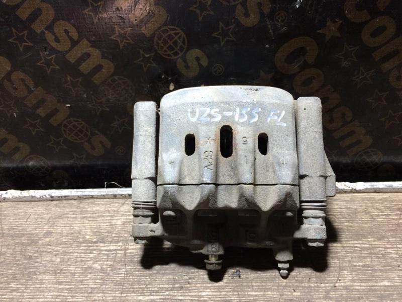 Суппорт тормозной Toyota Crown Majesta UZS155 1UZFE 1995 передний левый (б/у)