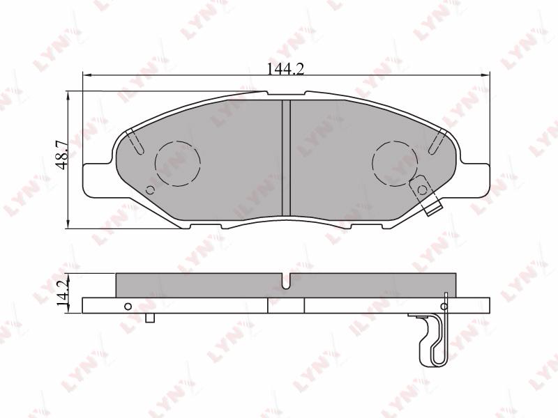 Колодки тормозные Mazda Familia передние