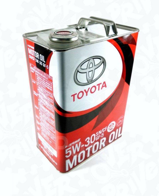 Масло моторное - 4 литра Масла И Технологические Жидкости Toyota 5W-30 Sn/cf