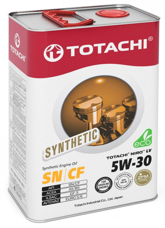 Масло моторное - 4 литра Масла И Технологические Жидкости Totachi Niro Lv Synthetic 5W-30