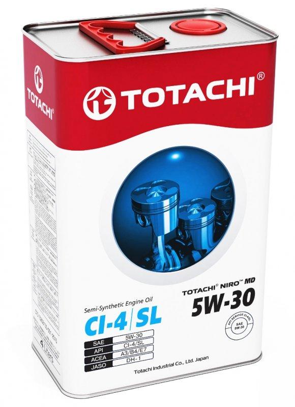 Масло моторное - 4 литра Масла И Технологические Жидкости Totachi Niro Md Semi-Synthetic 5W-30