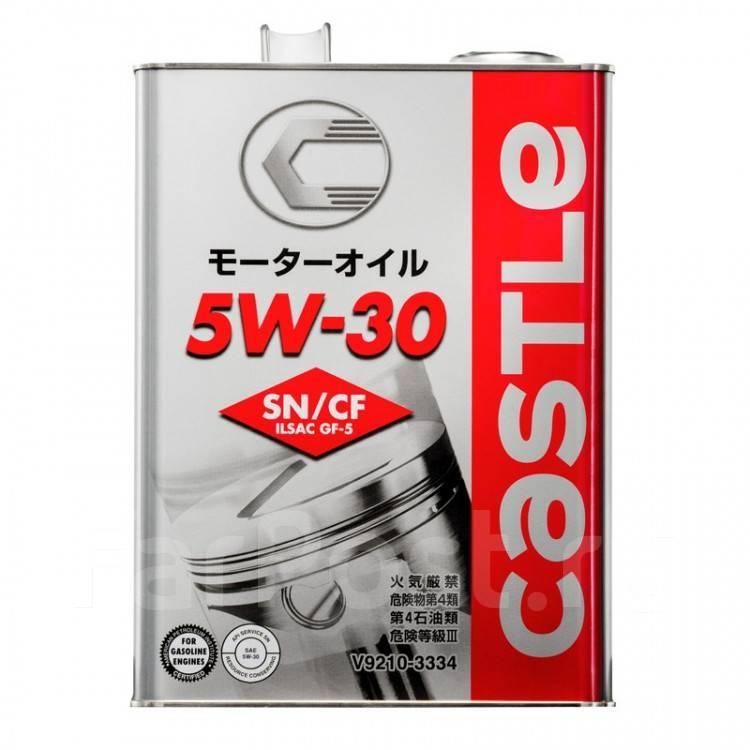 Масло моторное - 4 литра Масла И Технологические Жидкости Castle Motor Oil 5W30 Sn/сf