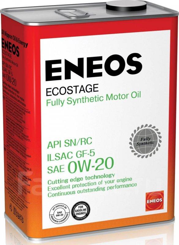 Масло моторное - 4 литра Масла И Технологические Жидкости Eneos Ecostage 0W20 Sn