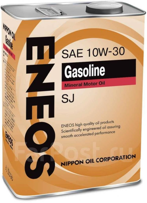 Масло моторное - 4 литра Масла И Технологические Жидкости Eneos Gasoline Sj 10W40
