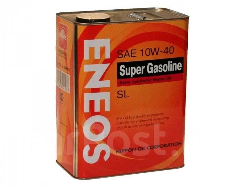 Масло моторное - 4 литра Масла И Технологические Жидкости Eneos Super Gasoline 10W40 Sl