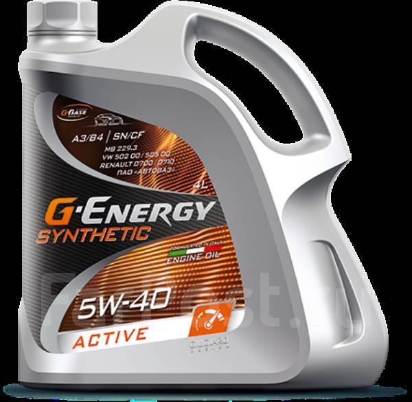 Масло моторное - 4 литра Масла И Технологические Жидкости G-Energy Synthetic Active 5W-40 Sn/cf