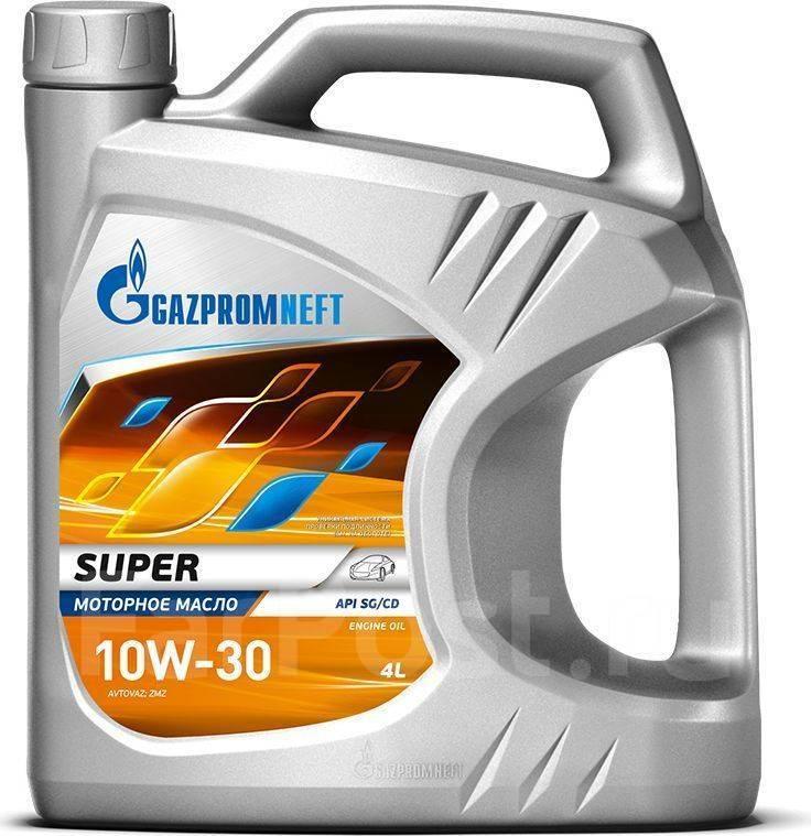 Масло моторное - 4 литра Масла И Технологические Жидкости Gazpromneft Super 10W-30 Api Sg/cd