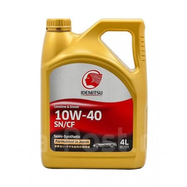 Масло моторное - 4 литра Масла И Технологические Жидкости Idemitsu 10W-40 Sn/cf