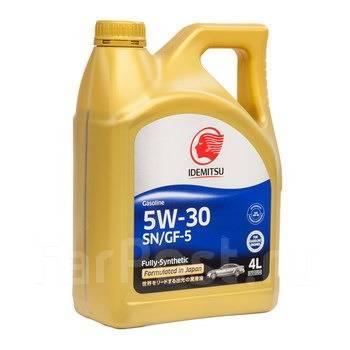 Масло моторное - 4 литра Масла И Технологические Жидкости Idemitsu F-S 5W30 Sn/gf-5