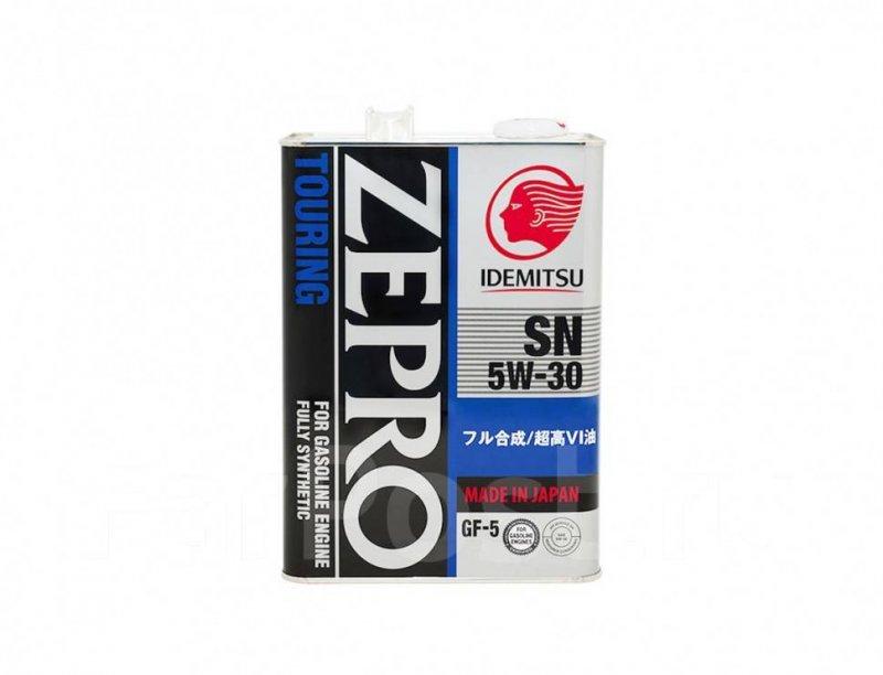 Масло моторное - 4 литра Масла И Технологические Жидкости Idemitsu Zepro Touring 5W30 Sn/gf-5