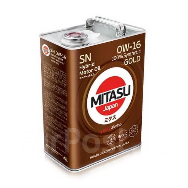 Масло моторное - 4 литра Масла И Технологические Жидкости Mitasu Gold Hybrid Sn 0W-16