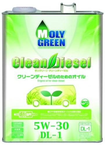 Масло моторное - 4 литра Масла И Технологические Жидкости Moly Green Clean Diesel Dl-1 5W30