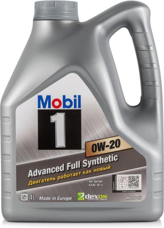 Масло моторное - 4 литра Масла И Технологические Жидкости Mobil-1 0W20 Sn/gf-5