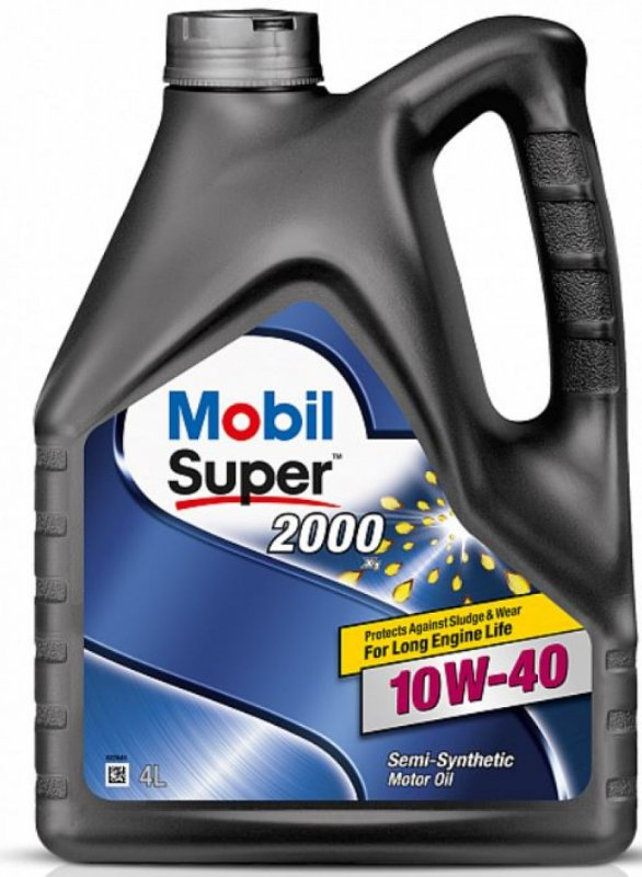 Масло моторное - 4 литра Масла И Технологические Жидкости Mobil Super 2000 X1 10W40 Sl/cf