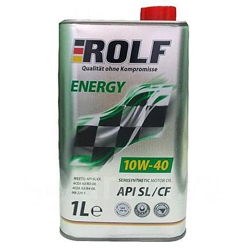 Масло моторное - 1 литр Масла И Технологические Жидкости Rolf Energy 10W-40 Sl/cf