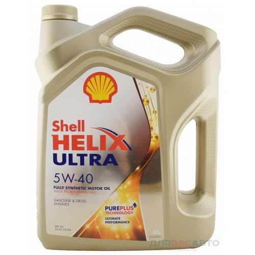 Масло моторное - 4 литра Масла И Технологические Жидкости Shell Helix Ultra 5W-40