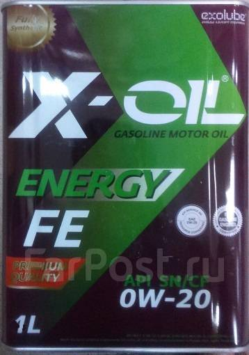 Масло моторное - 1 литр Масла И Технологические Жидкости X-Oil Energy Fe 0W20 Sn Cf