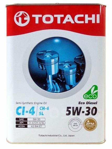 Масло моторное - 4 литра Масла И Технологические Жидкости Totachi Eco Diesel Ci-4/ch-4/sl П\синт
