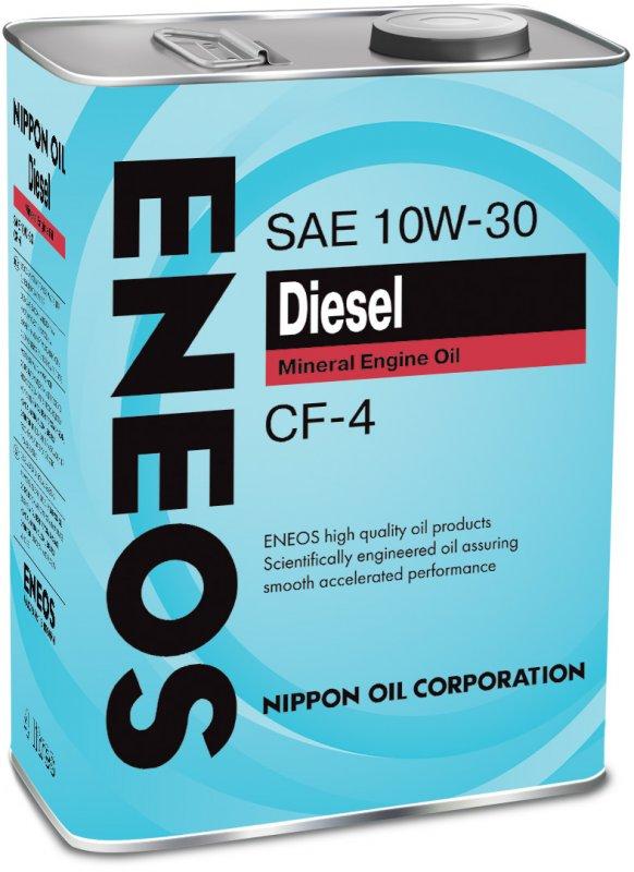 Масло моторное - 1 литр Масла И Технологические Жидкости Eneos Diesel 10W-30 Cf-4