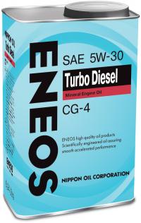 Масло моторное - 1 литр Масла И Технологические Жидкости Eneos Turbo Diesel 5W-30 Cg-4
