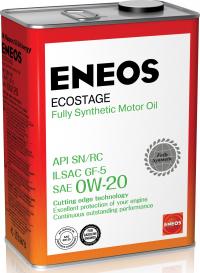 Масло моторное - 1 литр Масла И Технологические Жидкости Eneos Ecostage Sn 0W-20