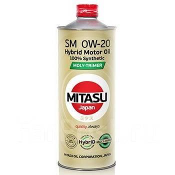 Масло моторное - 1 литр Масла И Технологические Жидкости Mitasu Hybrid Mj-M02 Moly-Trimer 0W-20 Sm