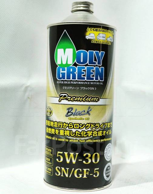 Масло моторное - 1 литр Масла И Технологические Жидкости Moly Green Premium Black Sn/gf-5 5W-30