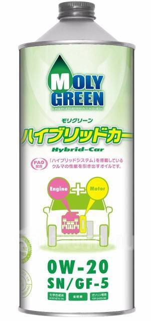 Масло моторное - 1 литр Масла И Технологические Жидкости Moly Green Hybrid 0W-20 Sn/gf-5