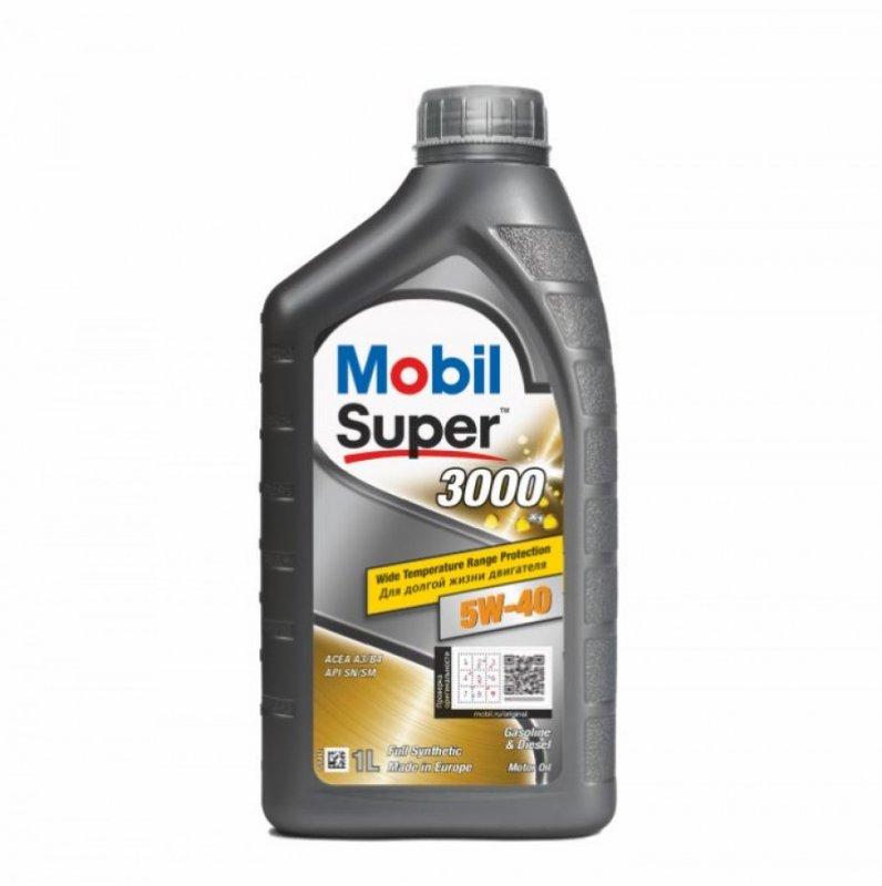 Масло моторное - 1 литр Масла И Технологические Жидкости Mobil Super 3000 X1 5W-40 Sn/sm/cf
