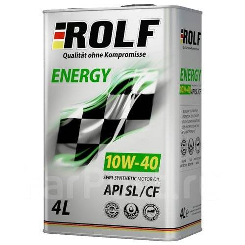 Масло моторное - 4 литра Масла И Технологические Жидкости Rolf Energy 10W40 Sl/cf