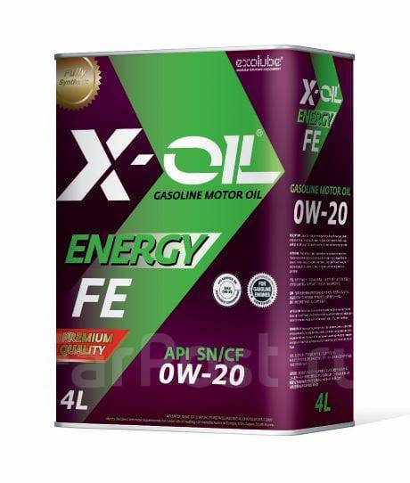 Масло моторное - 4 литра Масла И Технологические Жидкости X-Oil Energy Fe 0W20 Sn/cf