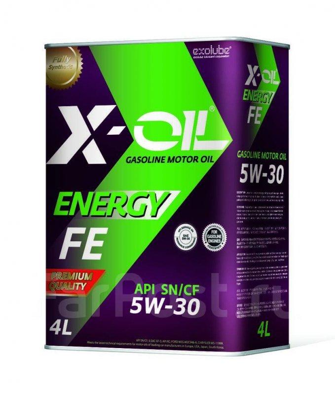Масло моторное - 4 литра Масла И Технологические Жидкости X-Oil Energy Fe 5W30 Sn/cf