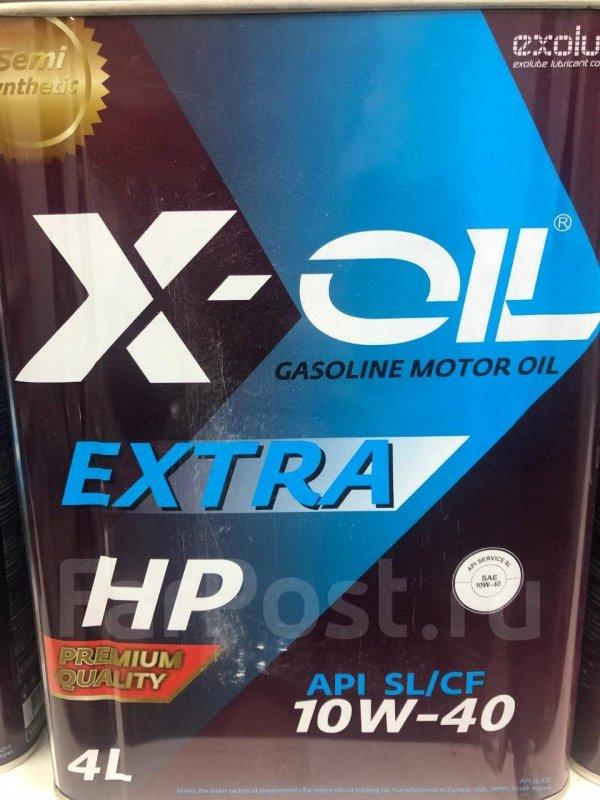 Масло моторное - 4 литра Масла И Технологические Жидкости X-Oil Extra Hp 10W40 Sl/cf