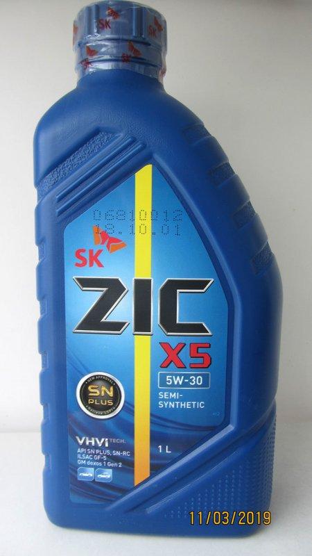 Масло моторное - 1 литр Масла И Технологические Жидкости Zic X5 Sn Plus 5W-30