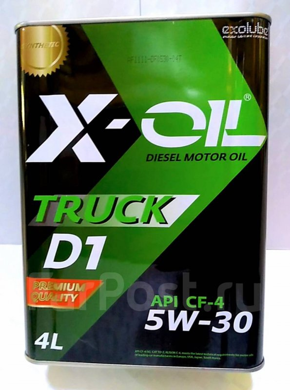 Масло моторное - 4 литра Масла И Технологические Жидкости X-Oil Truck D1 5W30 Cf-4