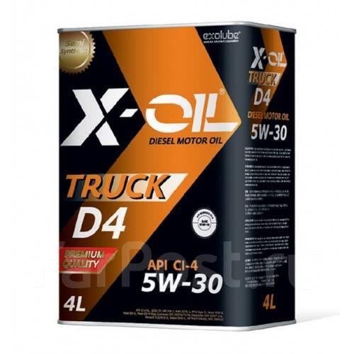Масло моторное - 4 литра Масла И Технологические Жидкости X-Oil Truck D4 5W30 Ci-4
