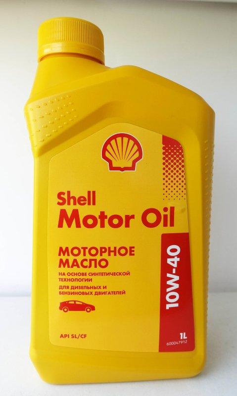 Масло моторное - 1 литр Масла И Технологические Жидкости Shell Motor Oil Sl/cf 10W40