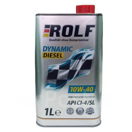 Масло моторное - 1 литр Масла И Технологические Жидкости Rolf Dynamic Disel 10W-40 Ci-4/sl