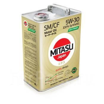 Масло моторное - 4 литра Масла И Технологические Жидкости Mitasu Moly-Trimer 5W30 Sm Ilsac Gf-4