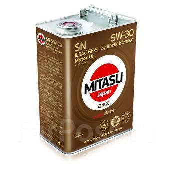 Масло моторное - 4 литра Масла И Технологические Жидкости Mitasu Mj-120 Motor Oil 5W-30 Sn