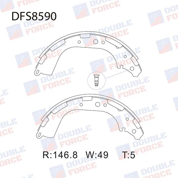 Колодки тормозные Nissan Datsun Truck FMD22 задние