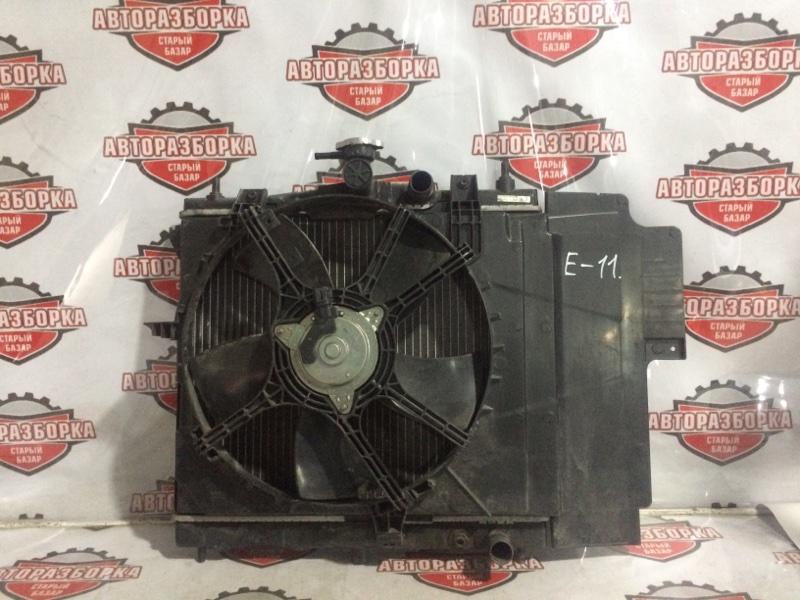 Радиатор охлаждения двигателя Nissan Note E11 HR15DE 2008 передний (б/у)