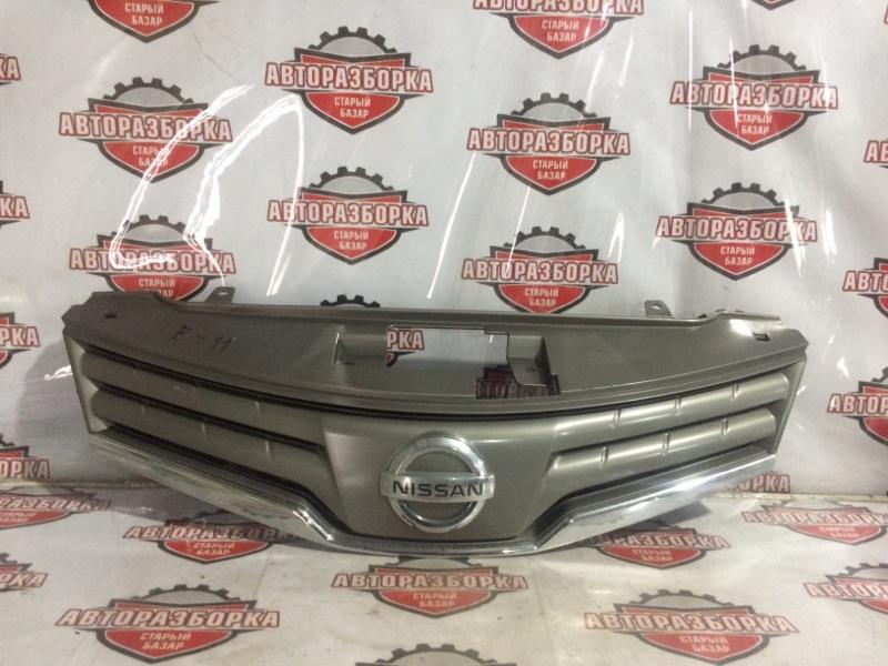 Решетка радиатора Nissan Note E11 HR15DE 2008 передняя (б/у)