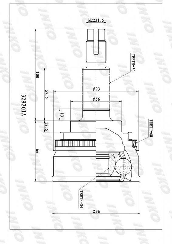 Шрус наружный Toyota Camry VCV11 передний правый