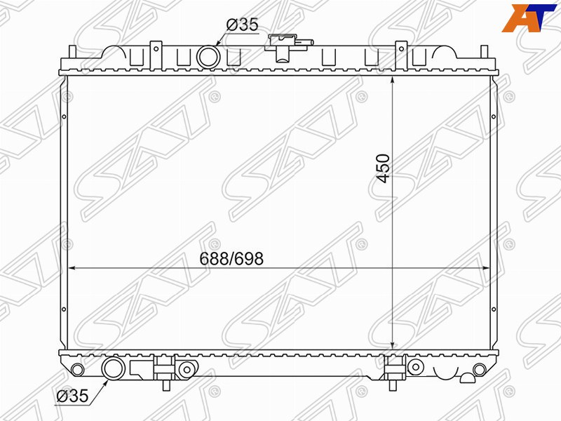 Радиатор охлаждения двигателя Nissan X-Trail QR20 00